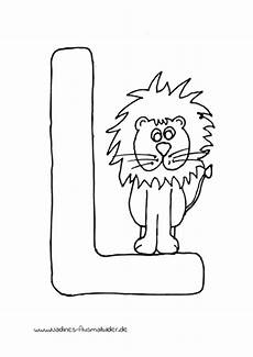 Ausmalbilder Buchstaben L Tieralphabet Buchstabe L Mit Leo L 246 We Nadines Ausmalbilder