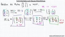 6 3 3 aufgabe zum gauss algorithmus