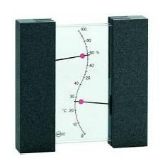 thermo hygrometer aus glas buche schwarz thermometer bei