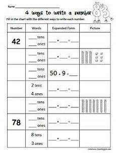 i love this adorable worksheet that focuses 4 different ways to write a number from peterson