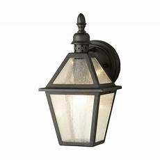 elstead lighting polruan single light wrought iron outdoor wall lantern in a black finish