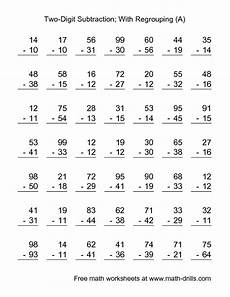 math worksheets subtraction with regrouping 10620 subtraction worksheet two digit subtraction with some regrouping 49 questions a 2nd