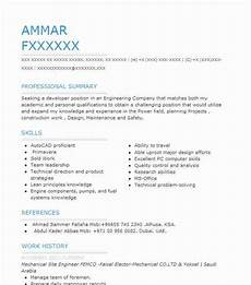 mechanical site engineer resume sle livecareer
