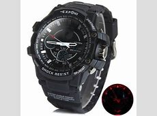 Exponi 3205 LED Sports Military Watch Dual Time 30M Water