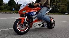 new pocket bike four stroke engine 50cc test