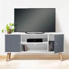 meuble bois gris meuble tv scandinave pas cher en bois gris et blanc id