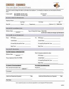 employee salary change form fill print download online resume sles templates