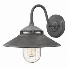 barn light seeded glass outdoor wall light zinc hinkley lighting 1110dz destination lighting