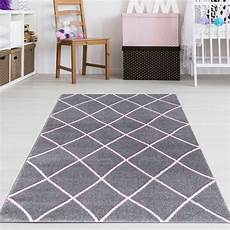 teppich rosa grau m 228 dchen teppich grau rosa teppich4kids