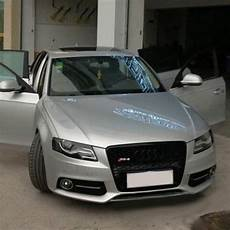 honeycomb front grill grille for audi a4 b8 s4 rs4 s line 2009 2012 rs4 style black emblem