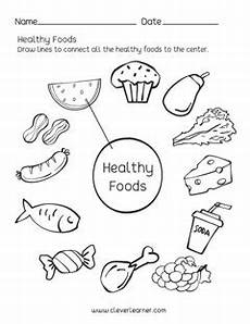 preschool science worksheets healthy foods