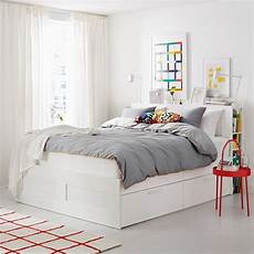 Kopfteil Bett Mit Ablage - brimnes bed frame with storage headboard