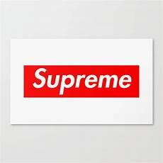 supreme box logo supreme box logo canvas print by kylzorr society6