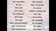short forms of words abbreviation that are used in chat