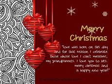 christmas cards for grandparents wordings and messages