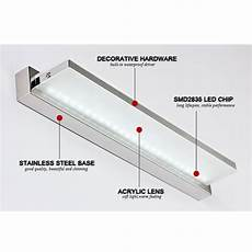 novelty items 15w 92cm length led bathroom mirror light ac220v ls smd2835 wall mounted bar