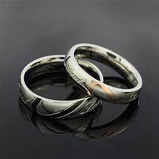 stainless steel silver half heart simple circle real love