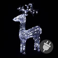 rentier beleuchtet rentier beleuchtet acryl 120 led weihnachtsbeleuchtung