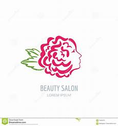 with rose petals in hair vector floral logo stock vector image 70505370