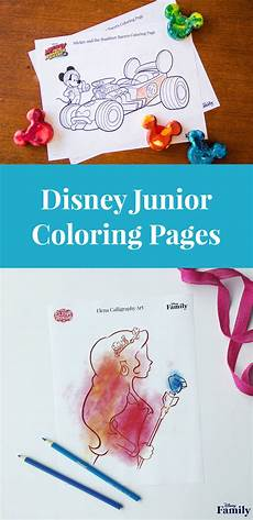 disney junior coloring pages disney family
