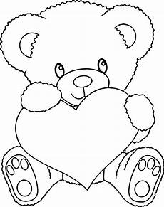 teddy holding a coloring pages at getcolorings
