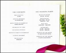 8 free one page wedding program templates for microsoft word sletemplatess sletemplatess