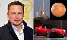 Elon Musk To Send A Tesla Roadster To Mars Daily Mail