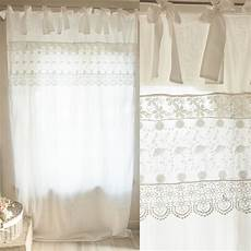 tende blanc maricl vendita on line tenda in cotone colore bianco con fascia in pizzo