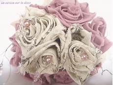 bouquet de fleurs en tissu sur un air de shabby chic cereza l atelier du bouquet de