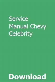 online service manuals 1985 pontiac 6000 user handbook service manual chevy celebrity chevy chevy models pontiac 6000