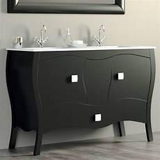 meuble salle de bain baroque noir meuble 120 cm noir 2 portes 1 tiroir vasque
