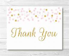 thank you cards template blush pink glitter gold thank you card printable ebay
