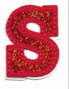 applique iron on letters sequin 2 quot letter quot s quot iron on embroidered