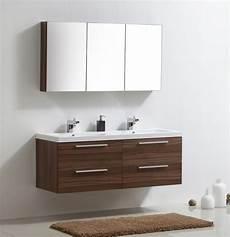 ensemble meubles de salle de bain couleur noix blanc