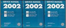 service and repair manuals 2002 chevrolet express 3500 interior lighting 2002 ck 3500 hd chassis cab repair shop manual original 3 volume set chevy gmc