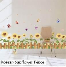 Wallsticker Wall Sticker Stiker Korean Sunflower Fence