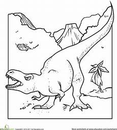 dinosaurs coloring by numbers worksheets 15350 color the dinosaur tyrannosaurus rex worksheet education