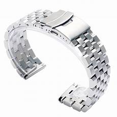 22mm Stainless Steel Band Replacement by High Quality 20mm 22mm Black Silver Solid Stainless Steel