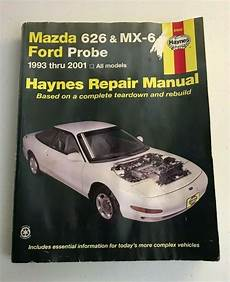 free online auto service manuals 1993 mazda mx 3 security system details about haynes repair manuals mazda 626 mx 6 ford probe 1993 2001 ford probe repair