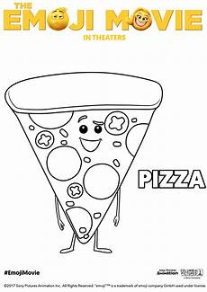 the emoji pizza coloring page free coloring