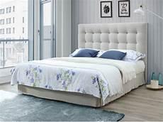 Bett Mit Kopfteil - kopfteil bett gepolstert francesco 160 cm beige kaufen