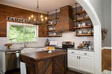 rustic freestanding kitchen island country kitchen hgtv