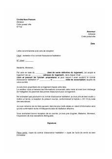 modele de resiliation assurance vetements cuir lettre pour resilier assurance habitation