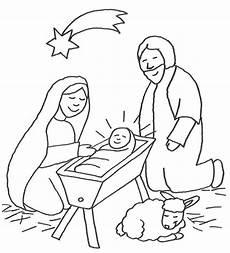 Ausmalbilder Weihnachten Jesu Geburt Ausmalbild Szenen Aus Der Bibel Jesus In Der Krippe Mit