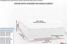 misure letto una piazza e mezzo letto con contenitore una piazza e mezza senza testata sommier
