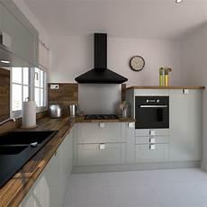 plan de travail en l id 233 e relooking cuisine cuisine grise ouverte