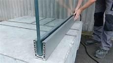 garde corps en verre installation garde corps en verre sabco