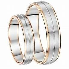 his hers 5 6mm palladium and 9ct rose gold wedding ring ebay
