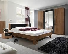 Schlafzimmer Komplett 4 Teilig Bett 160x200cm Kernnussrot