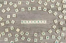 Buchstaben Bilden Das Wort Motivieren Der